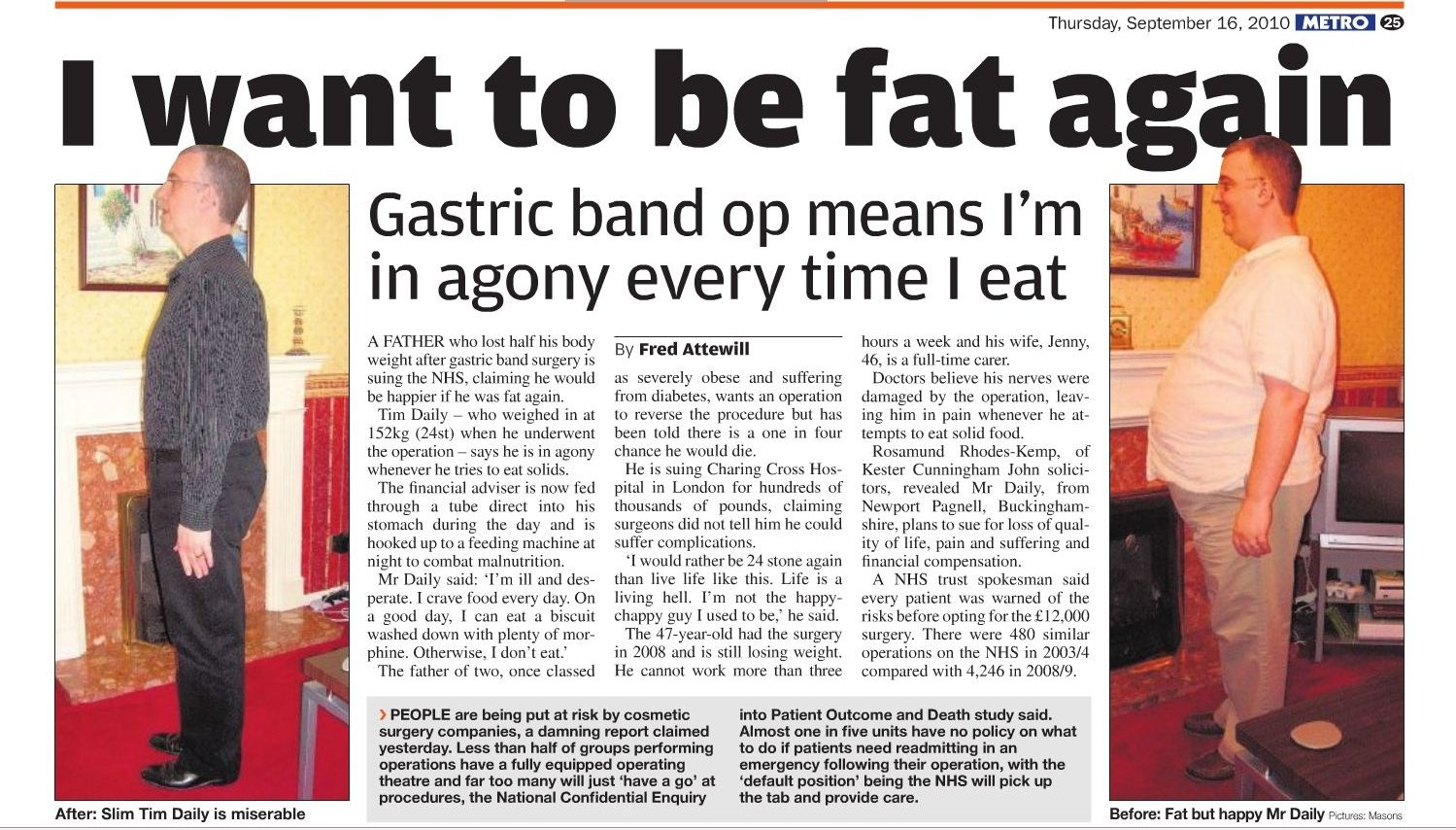 How to write a newspaper article - I want to be fat again - English ...
