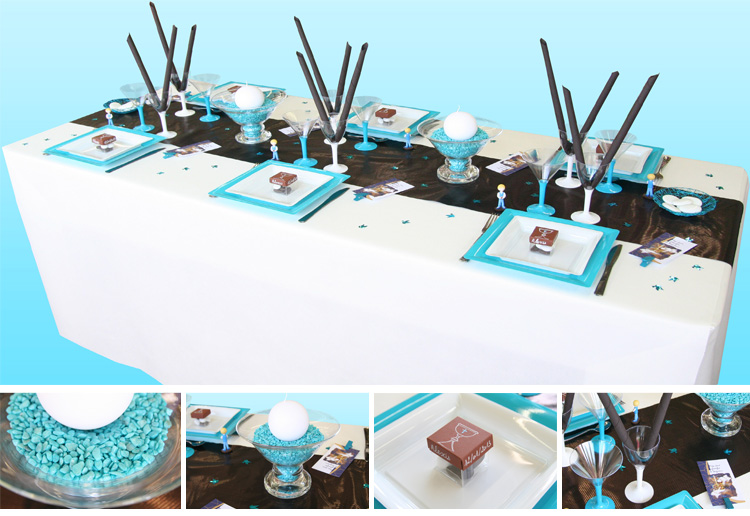 D co de table communion gar on - Idee decoration de table pour communion fille ...