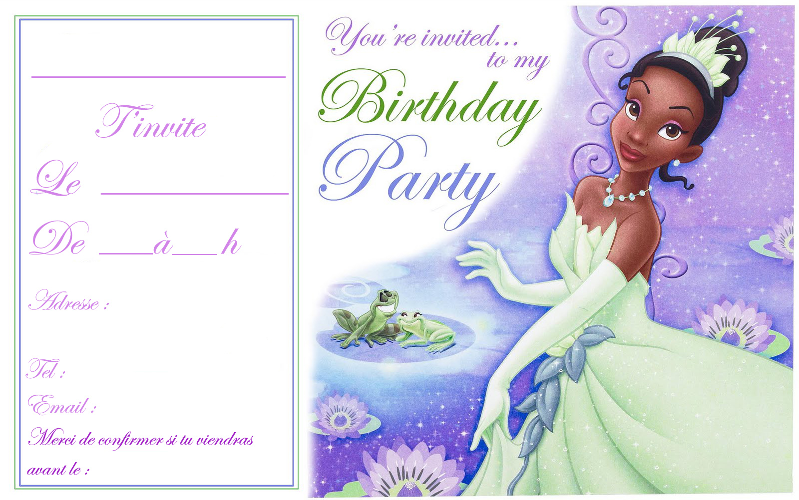 100 best Princess Tiana images – Princess Tiana Party Invitations