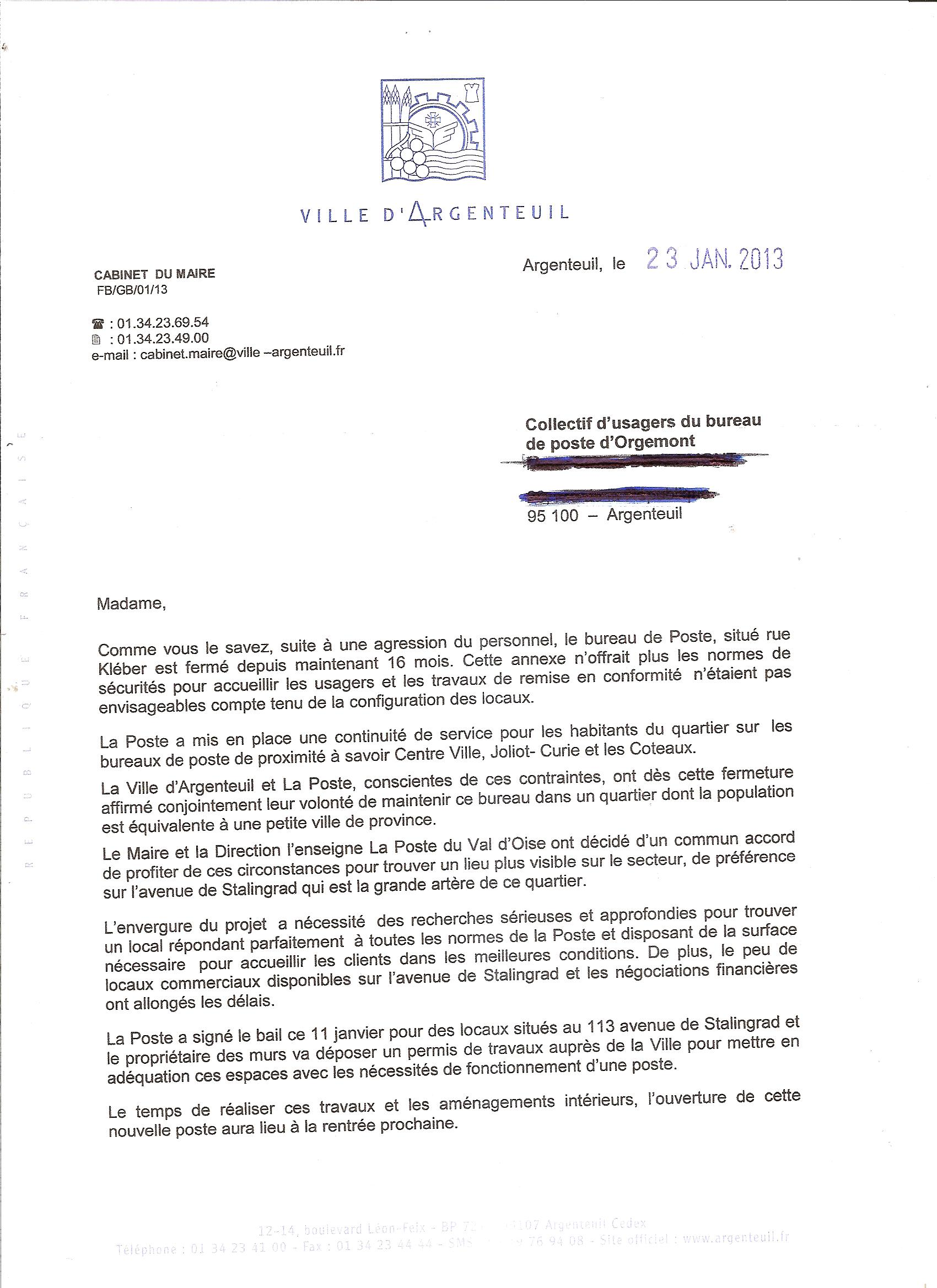 poste   archive courrier mairie