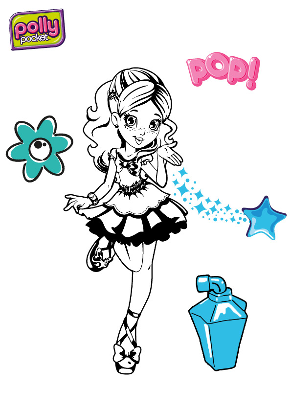 Une journ e de r ve avec pollypocket coloriages - Coloriage polly pocket ...